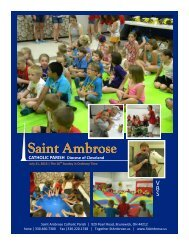 Saint Ambrose - St. Ambrose Catholic Parish