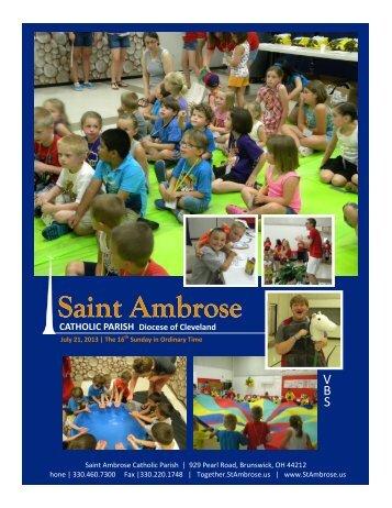 Saint Ambrose - St. Ambrose Catholic Parish