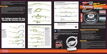 Die richtigen Knoten für den Einsatz der FireLine Crystal! - Berkley