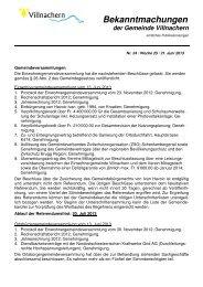 Nr. 24 / Woche 25 / 21. Juni 2013 - Gemeinde Villnachern