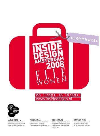 do 11sep t - zo 14 sep t www.insidedesign.nl - House of Origin