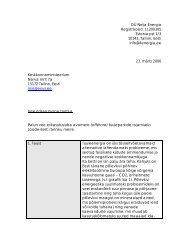 Vee erikasutusloa taotlus, 23.03.2006 - Keskkonnaministeerium