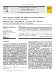 Direct conversion of cellulose and lignocellulosic biomass into ...