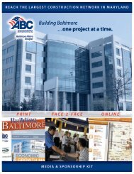 Building Baltimore …one project at a time.