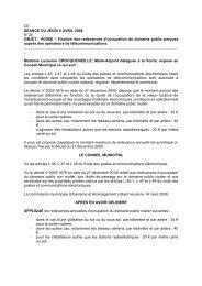 20. Fixation des redevances d'occupation du domaine public ...
