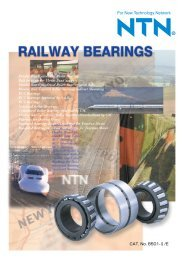Railway Bearings - NTN Bearing