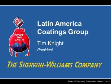 Latin America Coatings Group - Sherwin Williams