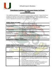 Rotator Cuff Type 1 Repair - Sports Medicine