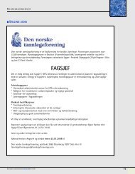 FAGSJEF - Den norske tannlegeforenings Tidende