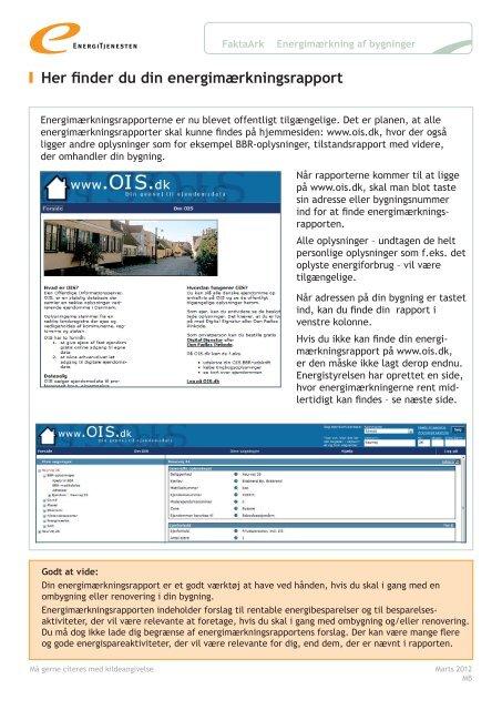 Her finder du din energimærkningsrapport - Energitjenesten