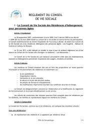 REGLEMENT DU CONSEIL DE VIE SOCIALE - Centre Hospitalier ...