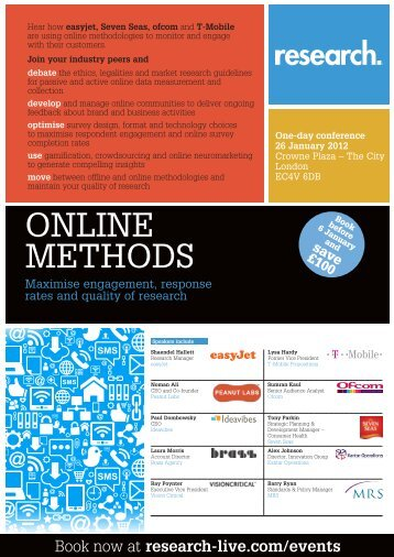 Online Methods conference, 26 January 2012 - Research-live.com