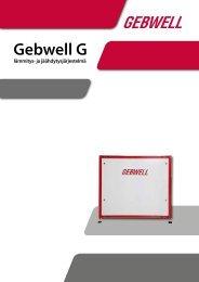 Gebwell G Maalämpöpumppu suuriin pinta-alaltaan ... - Gebwell Oy