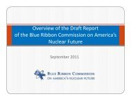 Overview of the Draft Report of the Blue Ribbon Commission on ...