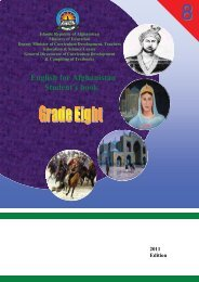 English for Afghanistan Student's book