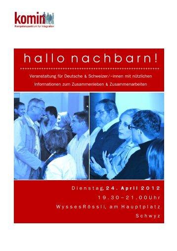 Neuer Flyer hallo nachbarn 1 - Swiss German Club