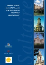 Nomination of Saltaire Village for inclusion in the World Heritage List