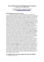 uevo Método atural De Multiplicación de Colmenas