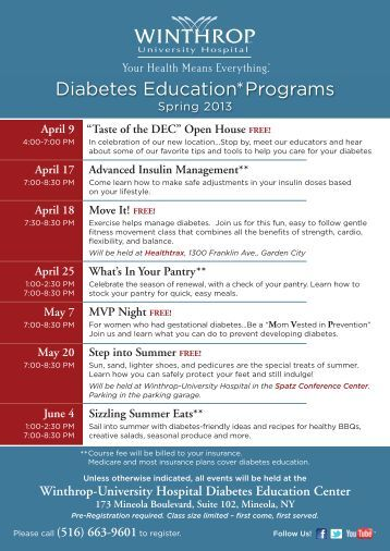 "diabetes education plan Your risk factors are evaluated and a ""wellness plan"" for your blood sugar, blood  pressure,  diabetes education packets you receive when you enroll in dwap."