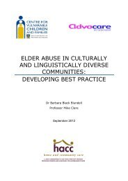 Elder Abuse in Culturally and Linguistically Diverse ... - Advocare