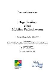 Prozessdokumentation - Koordination Palliativbetreuung Steiermark
