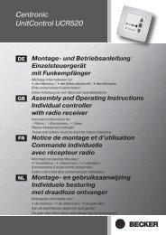 Becker Centronic UnitControl UCR520 Anleitung - auf enobi.de