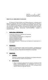 DIRECTIVA No. EMDN-MDN-014-SAGE-2005 - Ministerio de la ...