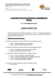 Fax profissional - Federação de Ginástica de Portugal
