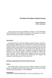 The State of the Web in Eastern Europe - Idate