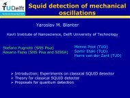 Blanter: SQUID detection of quantized mechanical motion