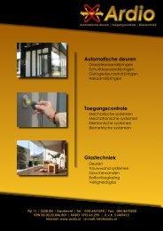 Automatische deuren Toegangscontrole Glastechniek - Werkspot