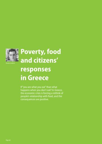 Poverty, food and citizens' responses in greece - Green European ...