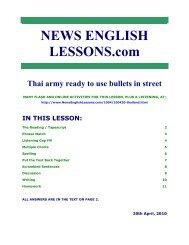 News English Lessons - Thailand