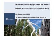 Microinsurance Trigger Product Jakarta - Munich Climate-Insurance ...