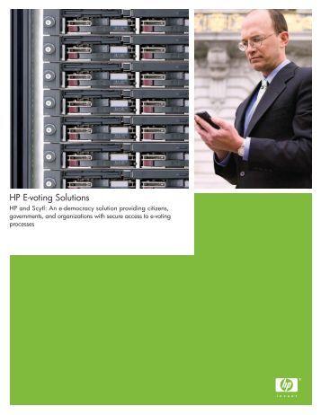 HP E-voting Solutions - Hewlett Packard
