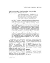 Effects of prenatal cocaine exposure and postnatal ... - ResearchGate