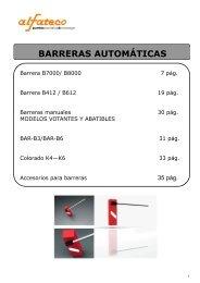 Catálogo técnico barreras - Logismarket