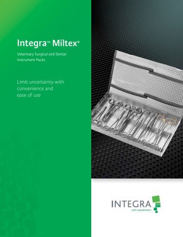 Surgical and Dental Packs - Integra Miltex