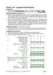 Psalm 114— Logotechnical Analysis - labuschagne