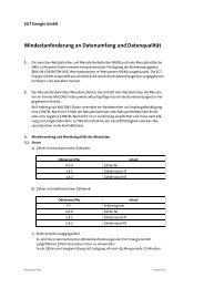 Mindestanforderungen - Datenumfang und - EGT Energie