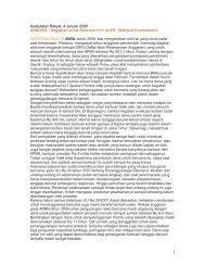 Kedaulatan Rakyat, 4 Januari 2008 ANALISIS : Anggaran untuk ...