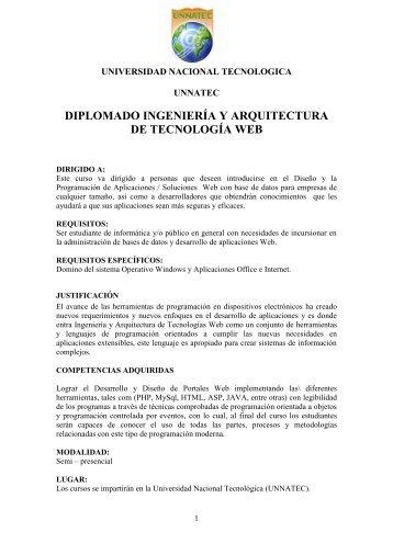 diplomado ingeniería y arquitectura de tecnología web - ITLA