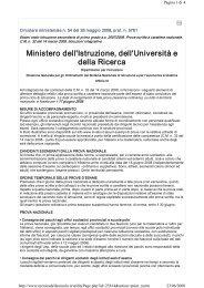 Circolare Ministeriale N. 54 del 26 maggio 2008 ... - Blog.Edidablog.It