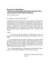 für einen starken Kanton Zürich (Bonzensteuer)