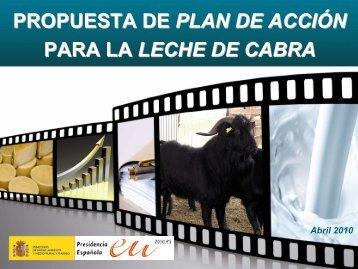 PROPUESTA DE PLAN DE ACCIÓN PARA LA LECHE DE CABRA
