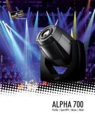 ALPHA 700 - Clay Paky