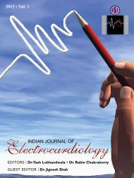 Vol. 1 - April - Indian Society of Electrocardiology