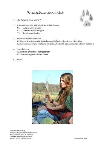 Ganzer Bericht als PDF - Wildnisschule Hoher Fläming