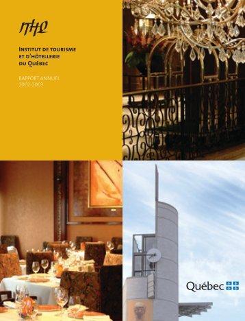 2002-2003 - Institut de tourisme et d'hôtellerie du Québec