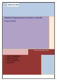 Modello Organizzativo, gestione e Controllo ex D ... - Savino Del Bene